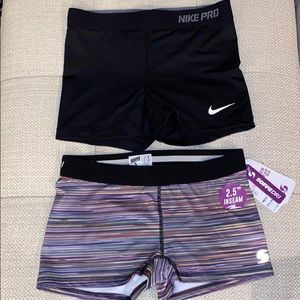 NWT! 2 Nike & SoffeDri Athletic Spandex